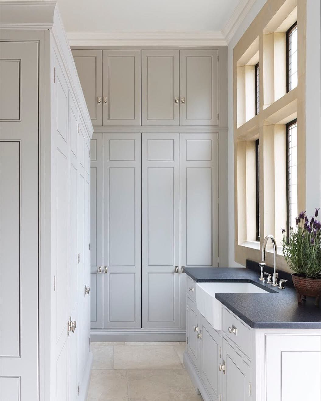 Super High Super Fly These Spenlow Cabinets Go Right To The Ceiling And Contain Masses Of Storage For Us Bespoke Kitchens Floor To Ceiling Cabinets Home