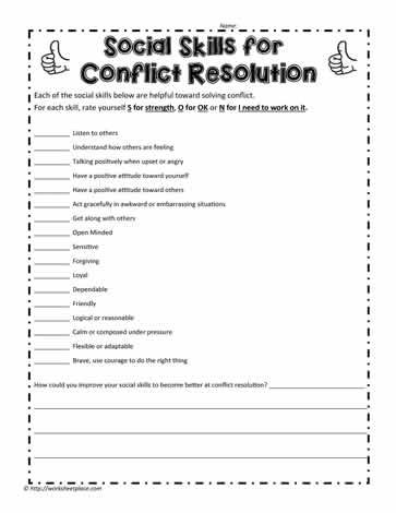These Printables For Social Skills Will Assist To Help Students