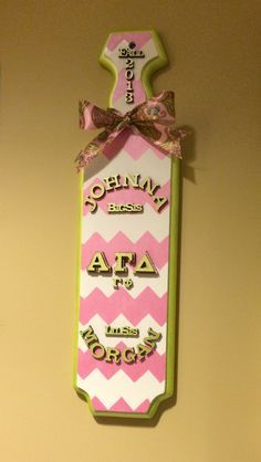 We Love The Designs On This Sorority Paddle! Check Out Even More Ways To Get