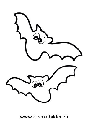 Ausmalbild Halloween Flatternde Fledermause Halloween Ausmalbilder Ausmalen Ausmalbild