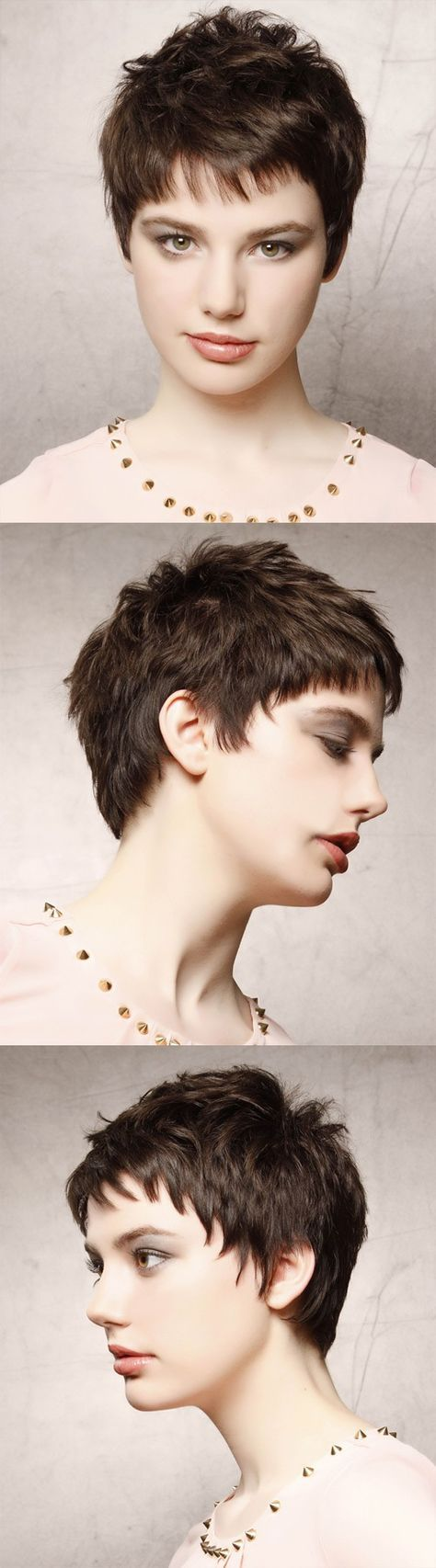 trendy short haircuts for women in dark brunette pixies