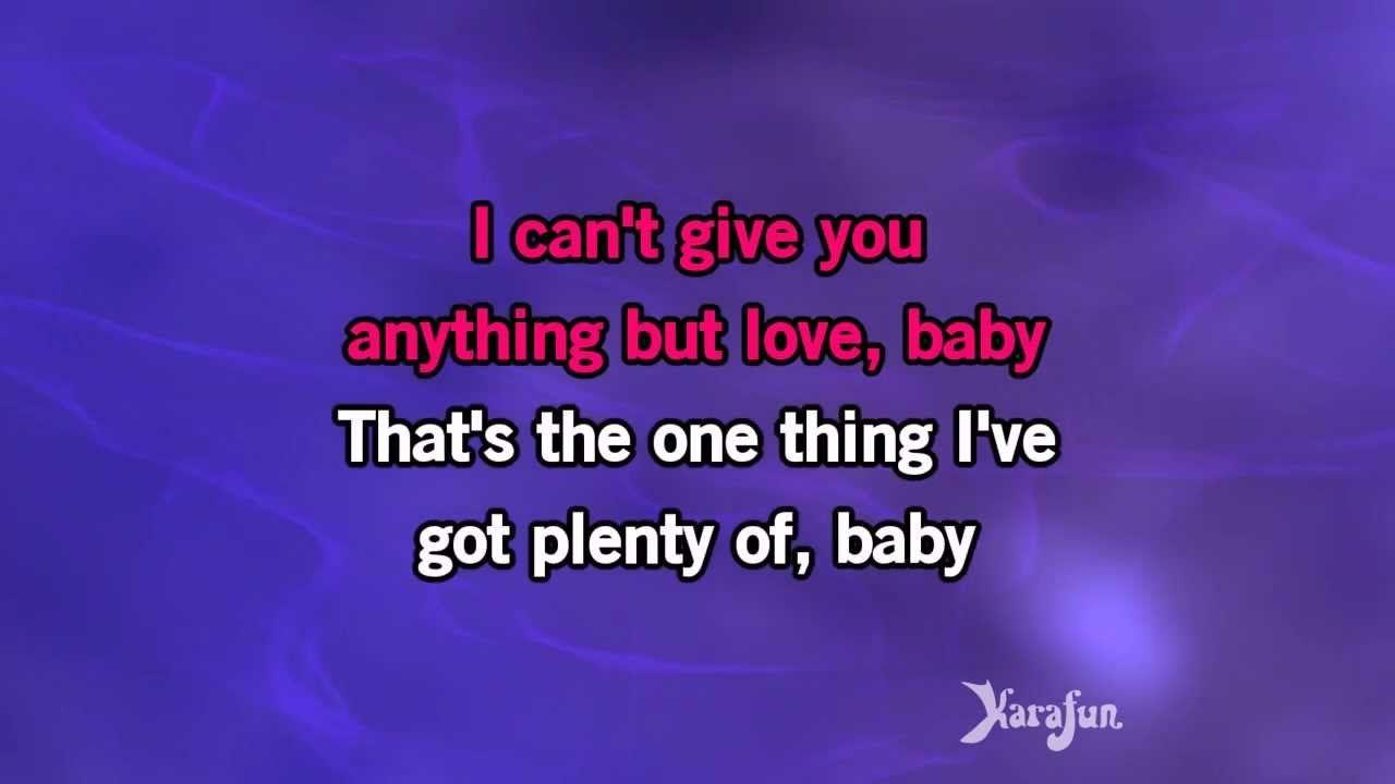 Karaoke I Can T Give You Anything But Love Diana Krall Karaoke Love Nat King Cole Karaoke Songs