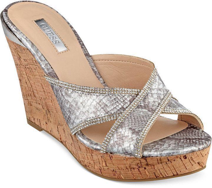 Womens Sandals GUESS Betzy Denim
