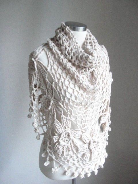 No Pattern. Crocheted Shawl. | yarn stuff | Pinterest | Chal ...