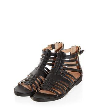 Black Chunky Gladiator Sandals on Newlook
