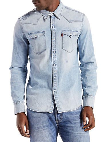 79b2950a753 LEVI S LEVI S Barstow Western Shirt Cone Rip and Repair.  levis  cloth