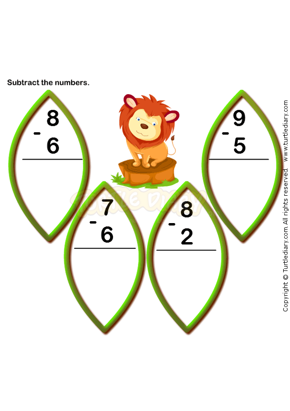 Subtraction Worksheet 8 - math Worksheets - kindergarten Worksheets ...