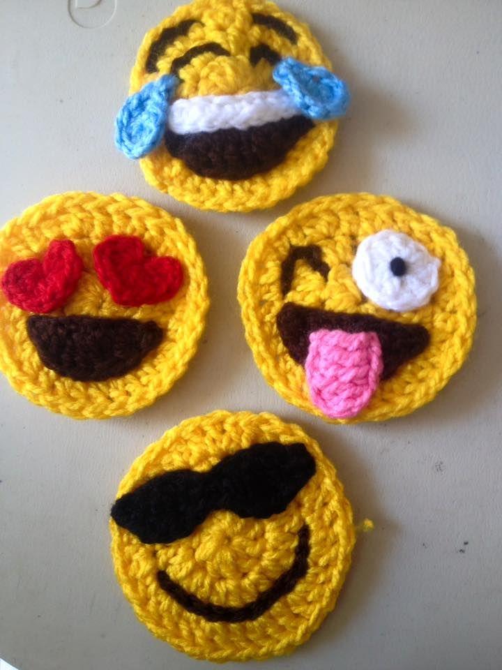 Monederos Emoji mini monederos tejidos a mano con zipper y forro