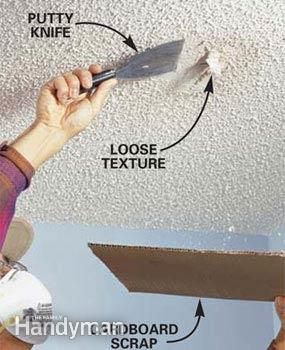 Patch A Water Stained Ceiling Or Textured Ceiling Info
