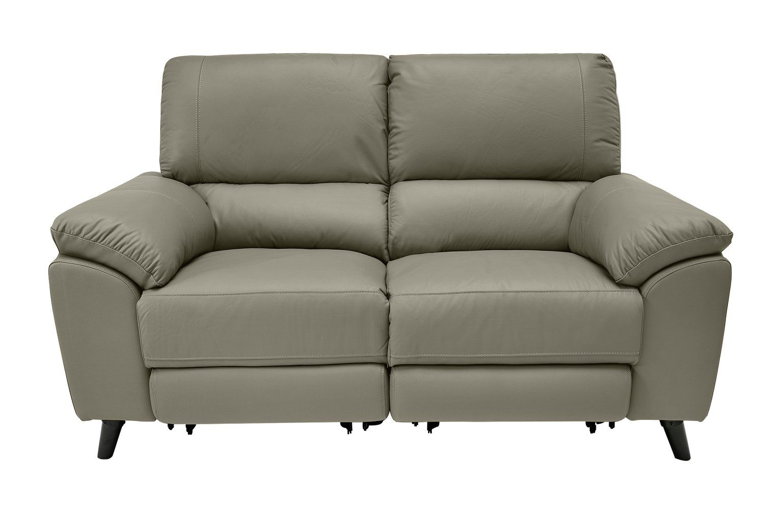 Buy Argos Home Elliot Leather Mix 2 Seater Recliner Sofa Grey Sofas In 2020 Reclining Sofa Teal Sofa Black Sofa