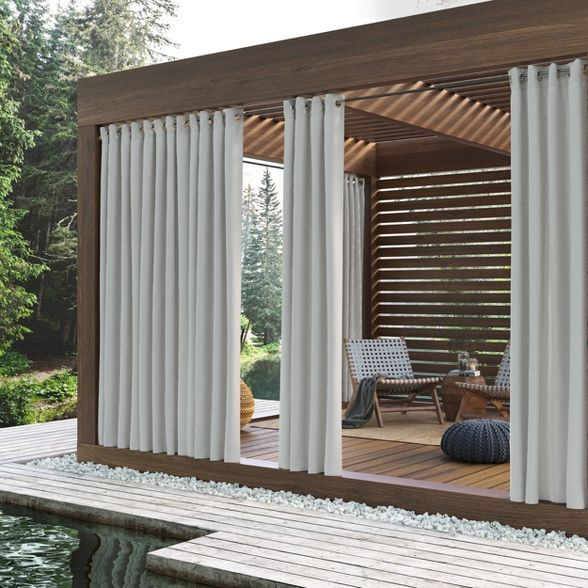 Rodham Uv Protectant Indoor Outdoor Curtain Panel Sun Zero In 2020 Indoor Outdoor Curtains Outdoor Curtain Panels Outdoor Curtains