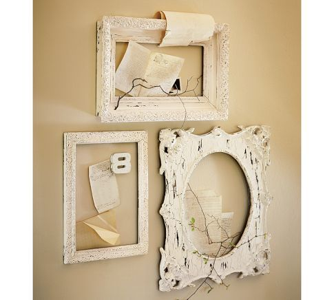 Antique frame around a cheap mirror to add some style to a tiny old ...