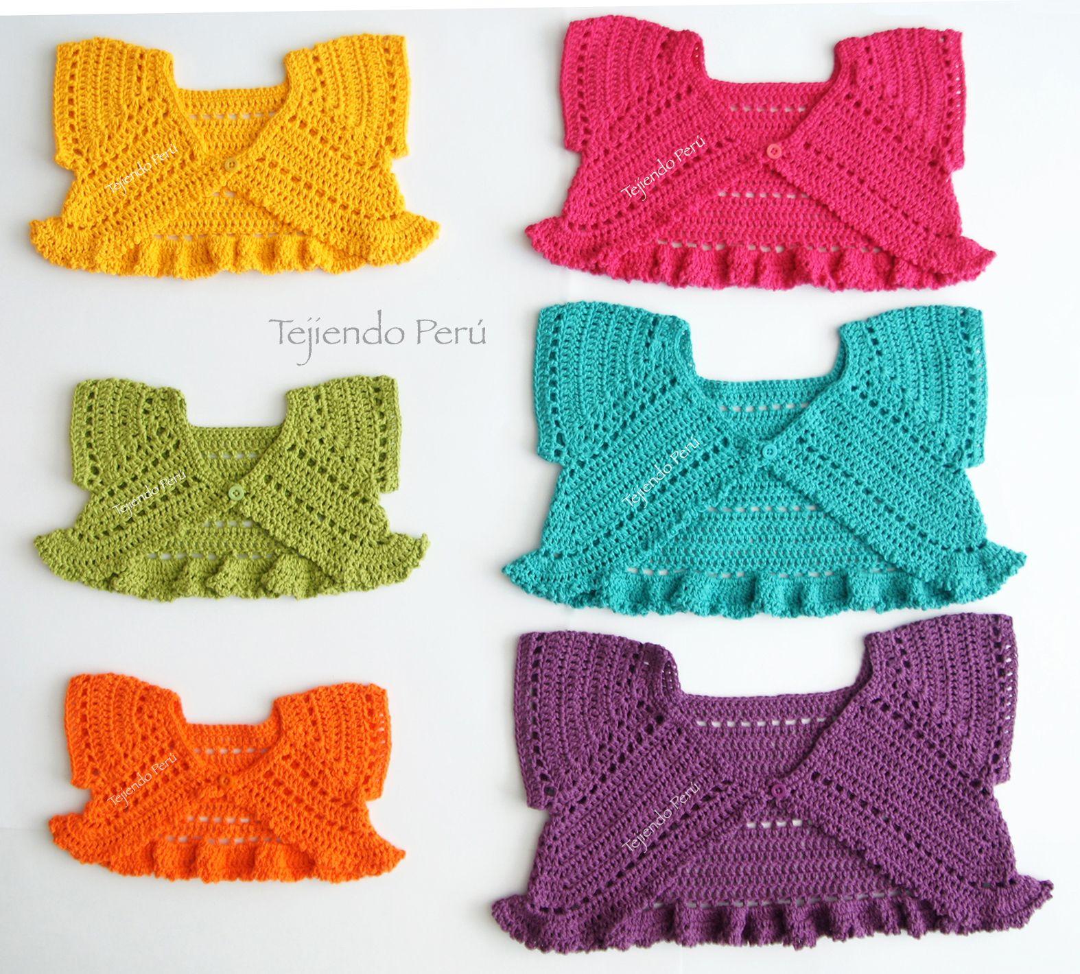 Crochet paso a paso: bolero mariposa para bebés y niñas! Explicación ...