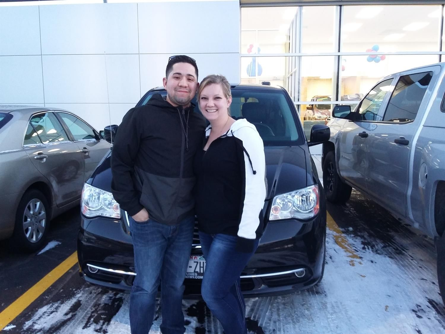 KENDRA AND ALEX's new 2014 Chrysler Town & Country! Congratulations and best wishes from Kunes Country Ford Lincoln of Delavan and Deanna Klosterman.