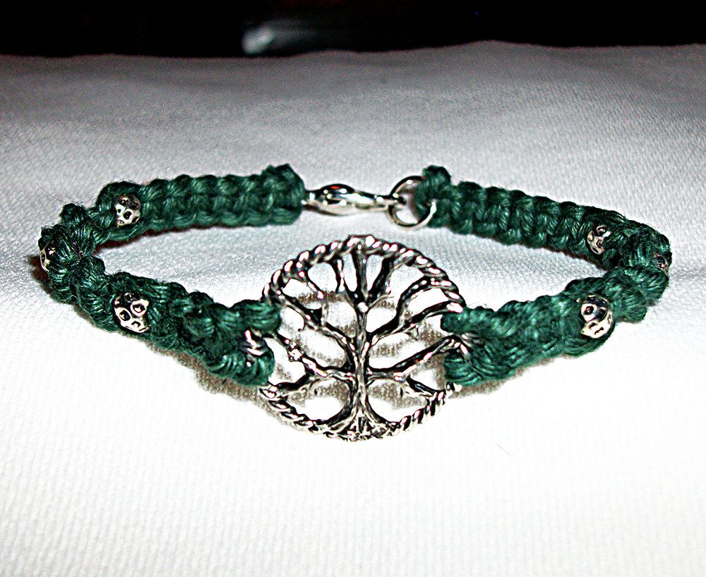 [Sponsored]Macrame Bracelet with Tree of Life Silver AR3ErQ