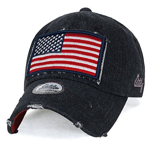 Ililily Usa Flag Patch Denim Cotton Vintage Distressed Ba Https Www Amazon Com Dp B06y5wlk8l Ref Cm Sw R Pi Dp X Distressed Baseball Cap Hats Baseball Cap
