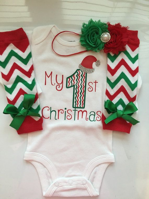 bd4ef148b Baby Girl 1st Christmas outfit - Preemie Newborn and 3 month My first  Christmas…