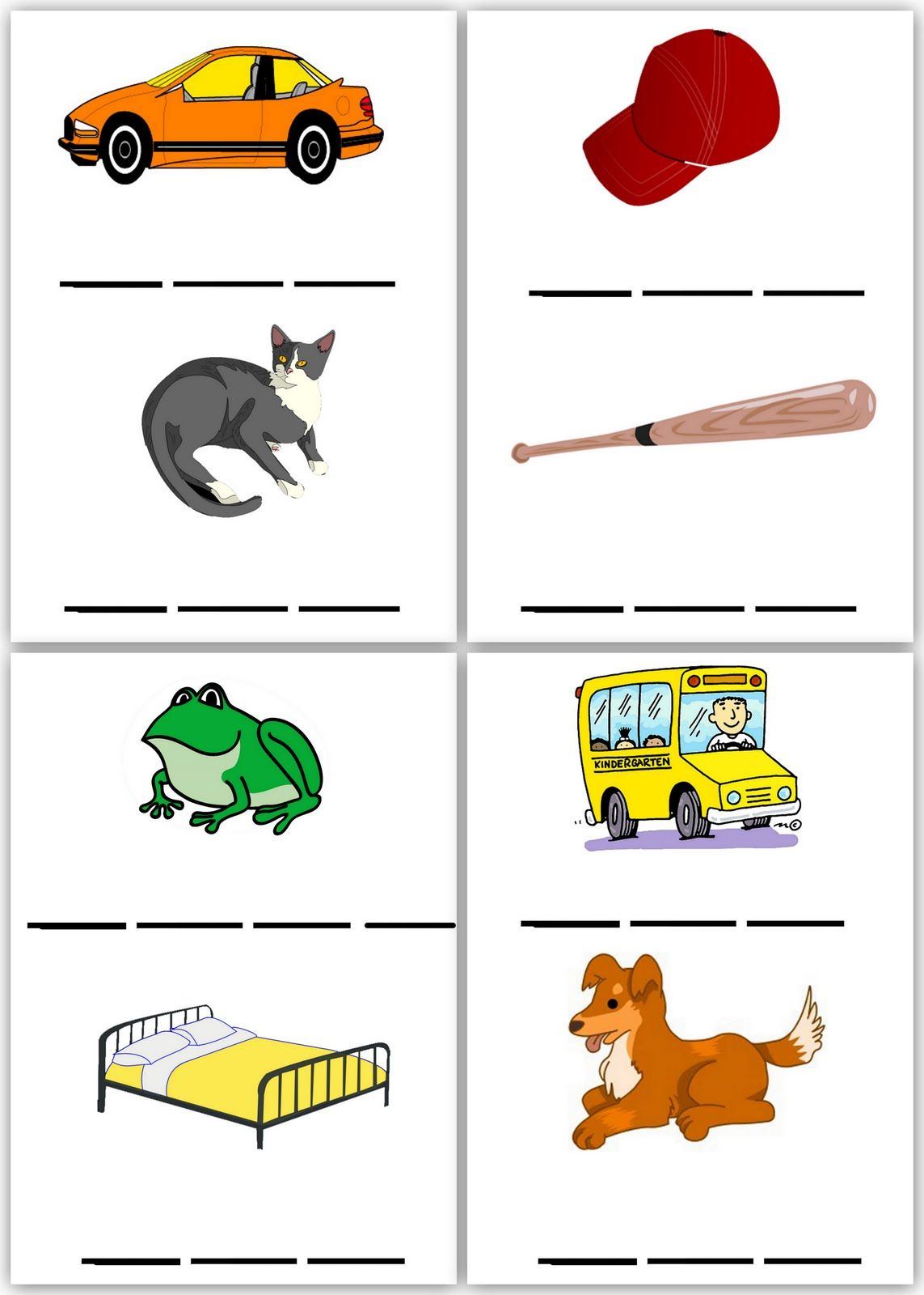 Spelling Worksheets Set 1