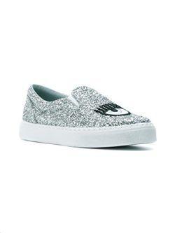 Chiara Ferragni Damen Cf1897 Silber PVC Slip on Sneakers YQ9er3SD ... 6c765abe5c