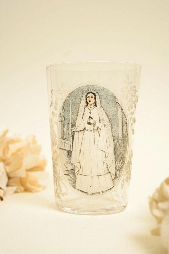 Antique etched glass. Holy comminion by PardonMyFrenchAntiqs