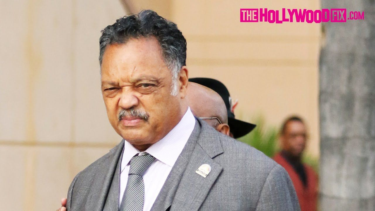 Rev. Jesse Jackson Attends Natalie Cole's Funeral In Los Angeles 1.11.16...