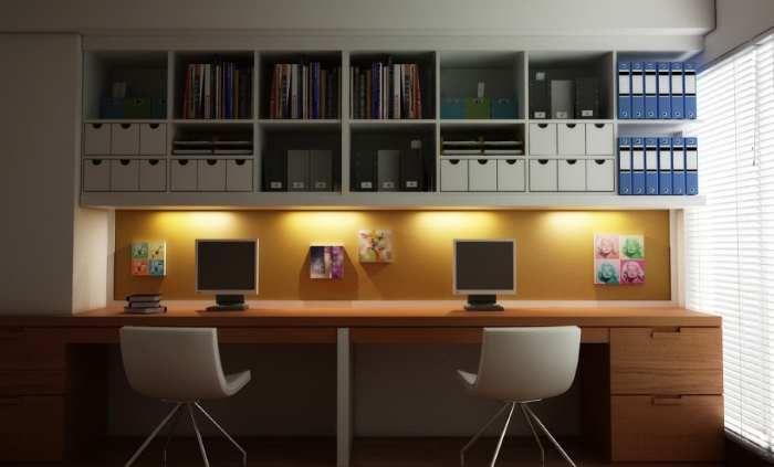 Home Office Space Saving Jpg 700 423 Modern Home Offices Ikea Home Office Modern Home Office