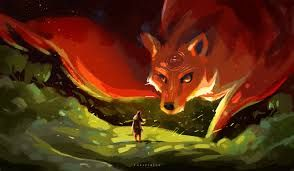 awesome drawing of a giant fox visit our store at www foxandrabbit