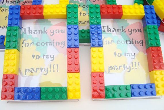 Lego picture frames... good craft idea for little guy, and perfect to put in his room!