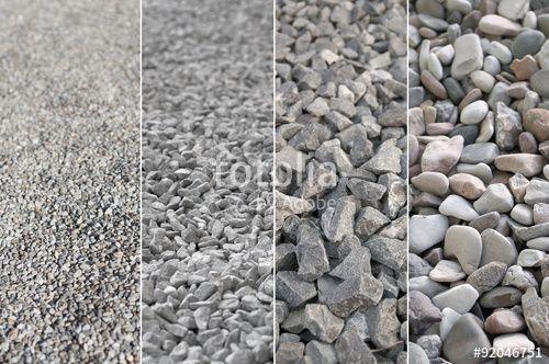Gut gemocht Kies in verschiedenen Korngrößen, Rohstoffe, Naturstein CK77