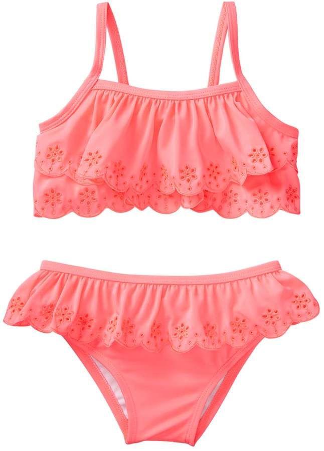 2051ca8f39b0c Toddler Neon Eyelet Bikini | Products | Bikinis, Toddler swimsuits ...
