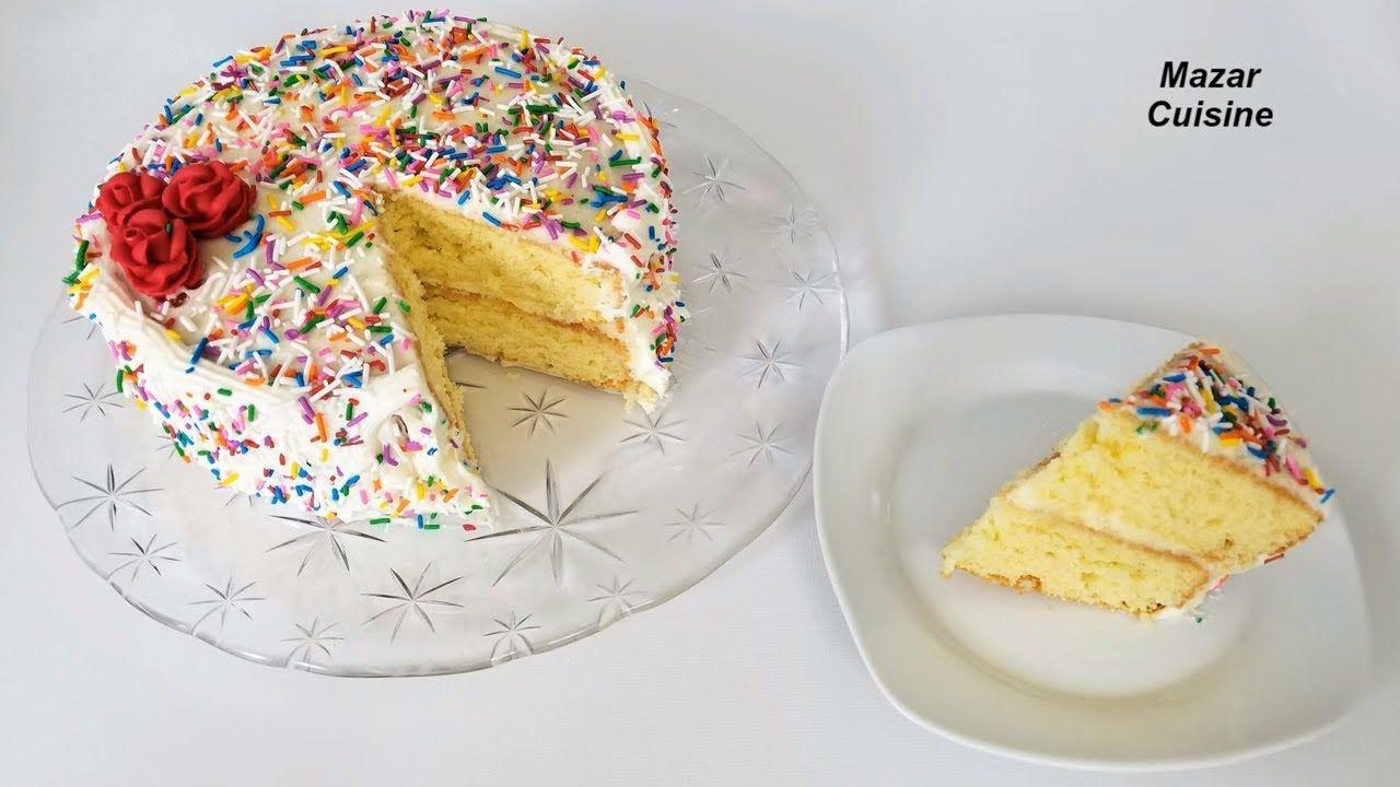 Birthday Cake Recipe Easy Simple Sponge Cake Recipe ...