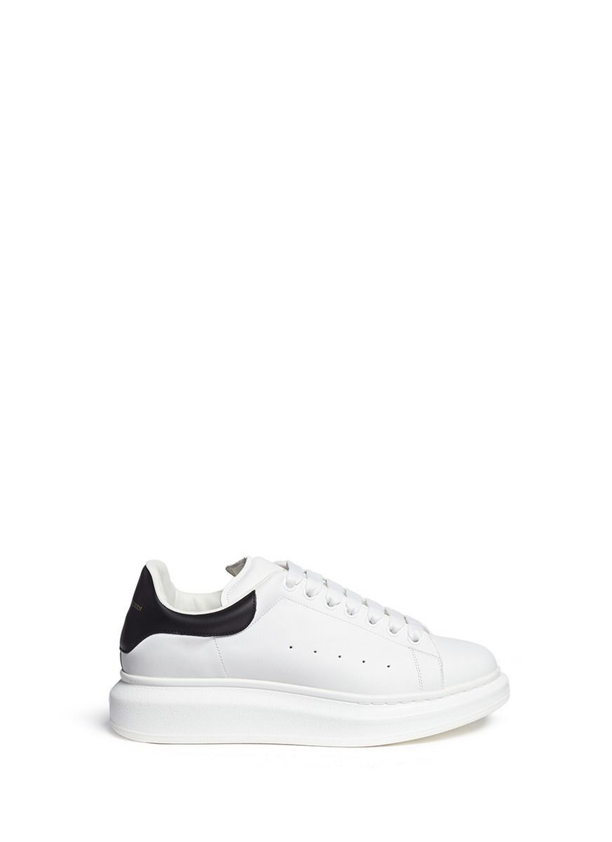 7864799c41d7d8 Alexander Mcqueen  Larry  Chunky Outsole Leather Sneakers in White for Men