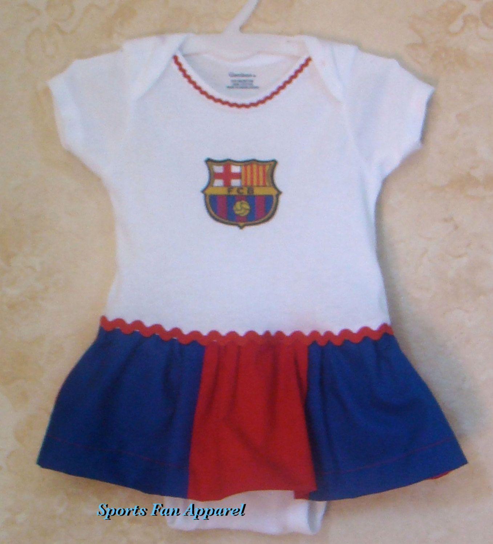 cd77bbfc9ed Barcelona Soccer Onesies Appliqued Onesies by My2ShaySportsApparel