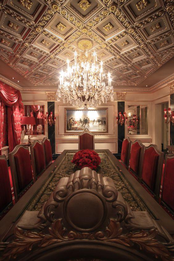 Gi Room Design: Dining Room With Bespoke Designed Gold, Platinum And