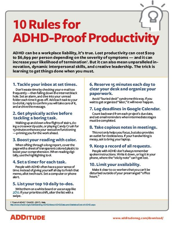 Job advice for add adults