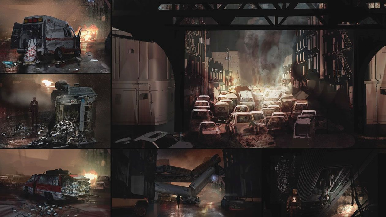 Raccoon City Vehicles Concept Art From Resident Evil 2 2019 Art Artwork Gaming Videogames Gamer Gameart Illust City Vehicles Concept Art Resident Evil
