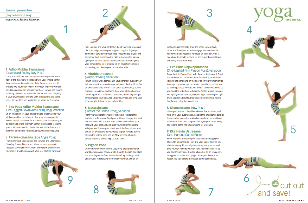 Playful Yoga Sequence From Yoga Journal March 09