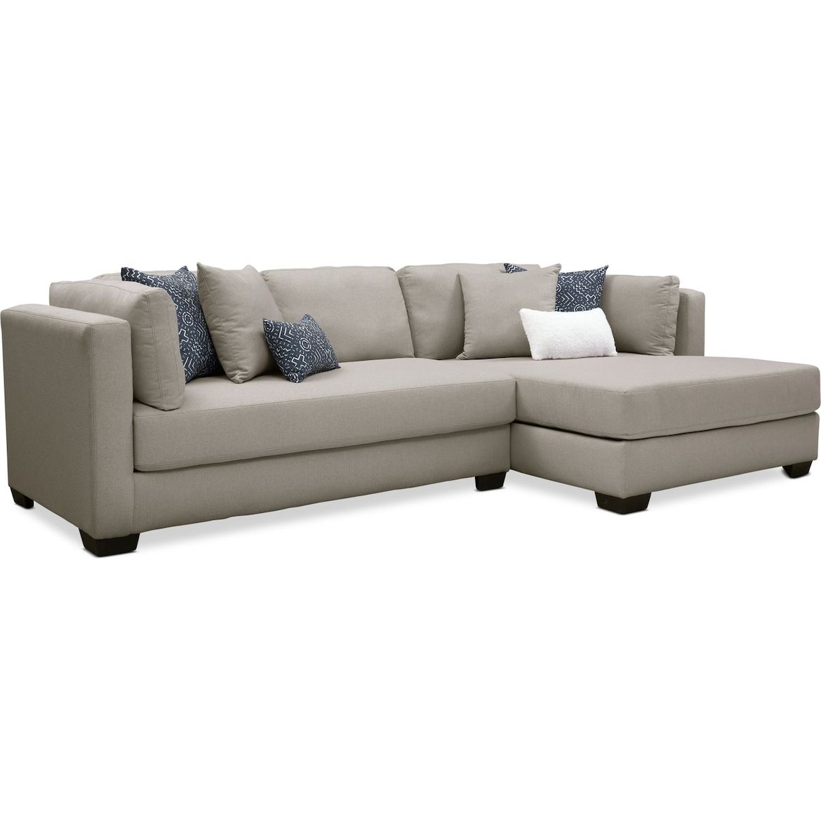 Rosalyn 2 Piece Sectional With Chaise In 2020 Living Room Sectional Sectional Media Room Seating