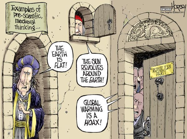 David Horsey Cartoons Political Satire Climate Change