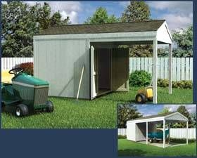 Shed+with+covered+patio | Utility Shed With Open Covered Carport Storage  Plans