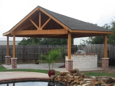 Backyard detached covered patio for Detached covered patio plans