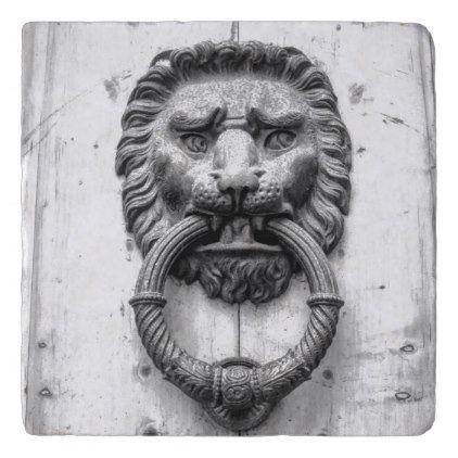 Lion Door Knocker Trivet   Metal Style Gift Ideas Unique Diy Personalize