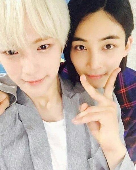 #Monsta_X Minhyuk and #Seventeen Jeonghan