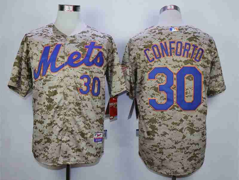 pretty nice 21543 85150 Men's New York Mets #30 Michael Conforto Camo Cool Base ...