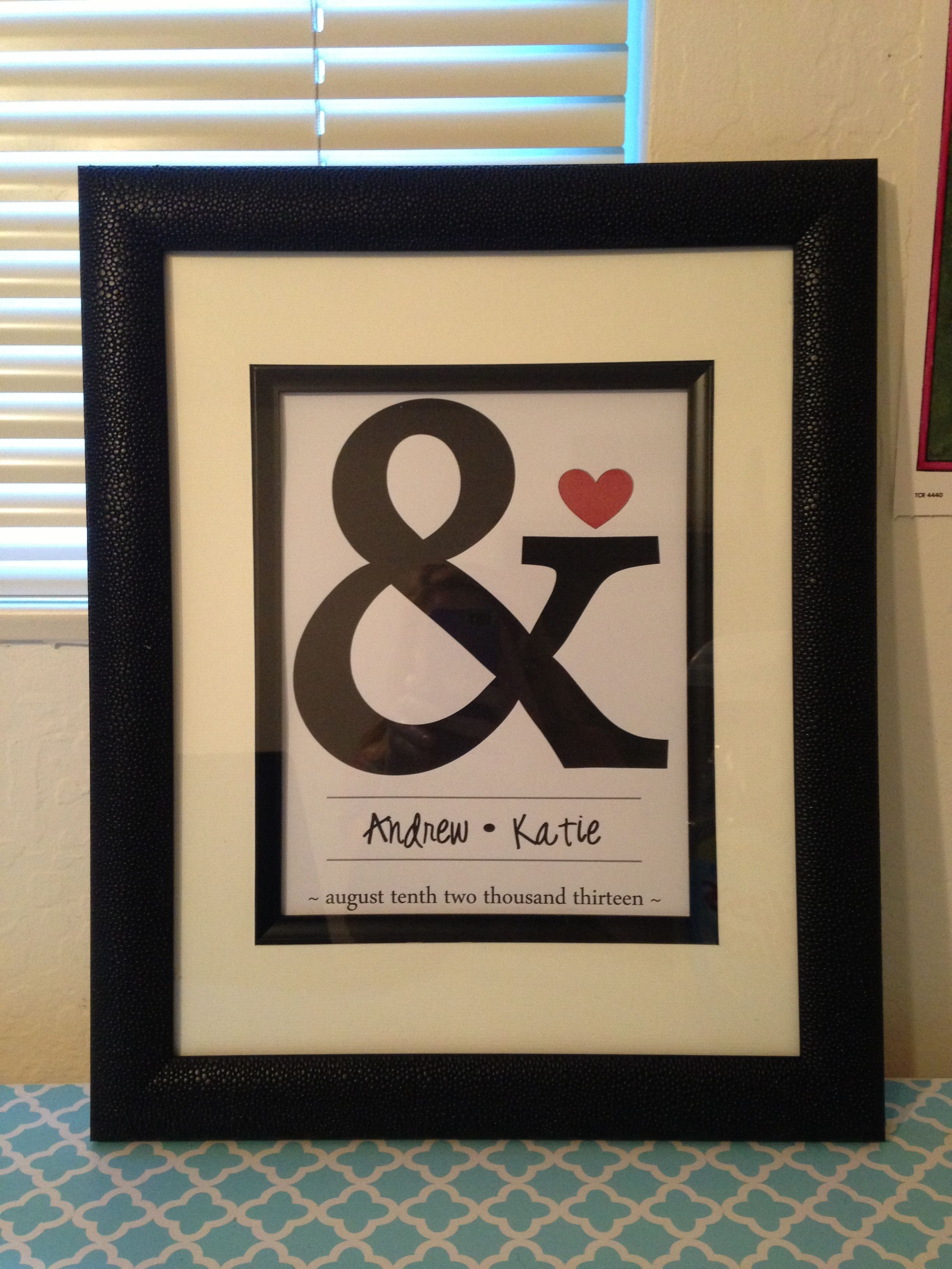 DIY wedding gift | My (ALL DONE!) Pinterest Projects ...