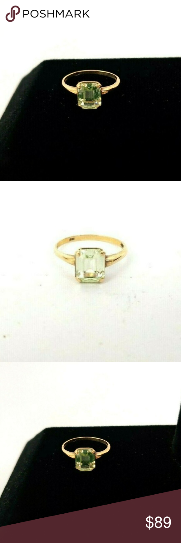 10 Karat Yellow Gold 1 5 Gram Synthetic Spinel Siz 10 Karat Yellow Gold Ring Size 8 1 5 Gram Synthetic Spine Womens Jewelry Rings Spinel Ring Yellow Gold Rings