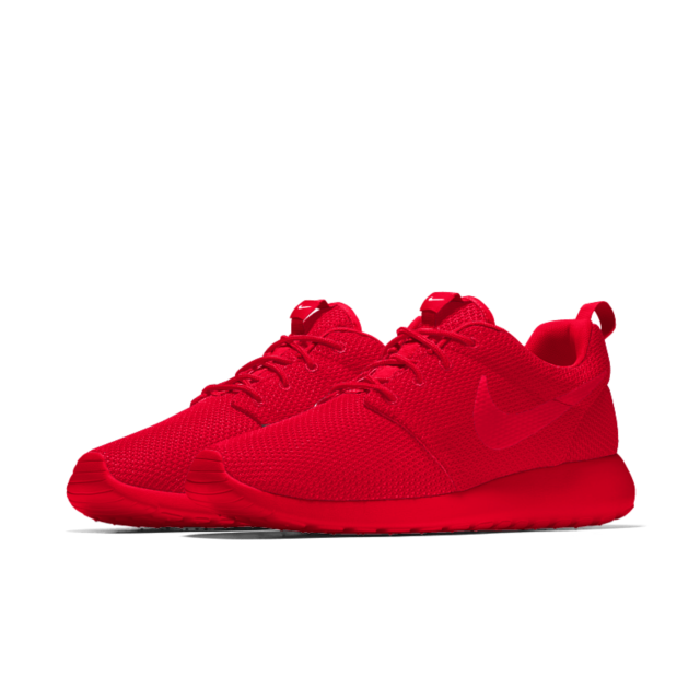 Personalized all university red Nike Roshe One Essential iD Shoe