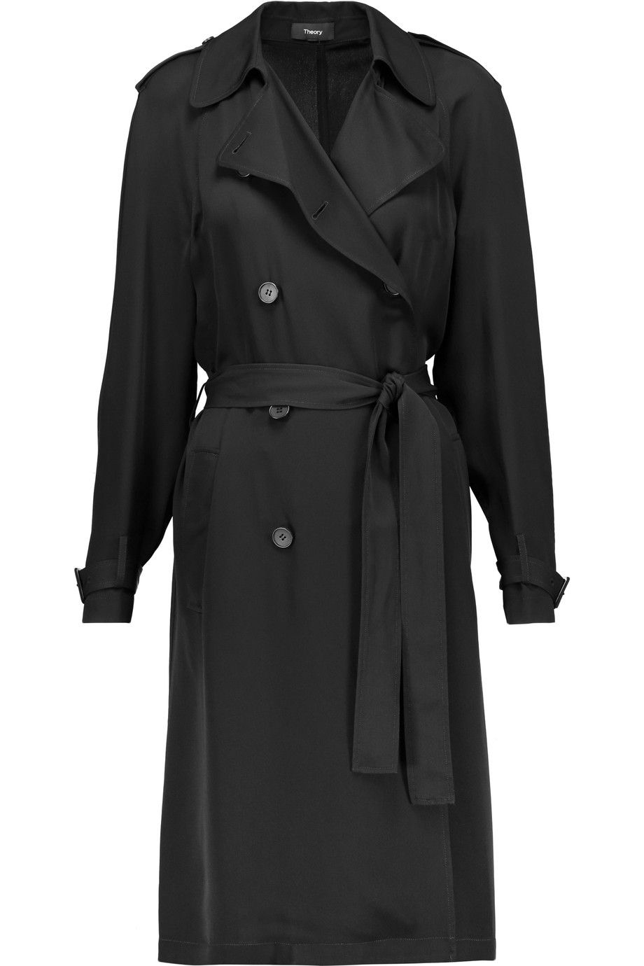 98a622cc80 THEORY Laurelwood silk crepe de chine trench coat. #theory #cloth #coat