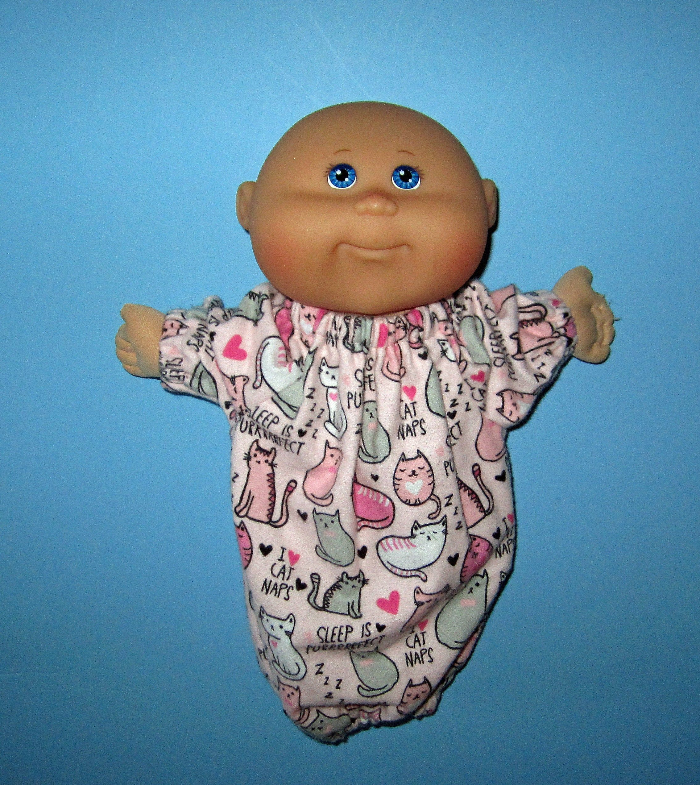 Cabbage Patch Surprise Doll Clothes Pink Kitty Cat Sleeper Etsy Doll Clothes Cabbage Patch Kids Cabbage Patch Dolls