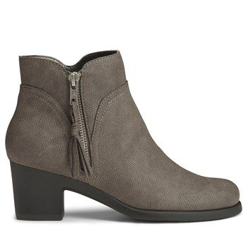 Aerosoles Women's Acrobatic Booties (Grey Snake)